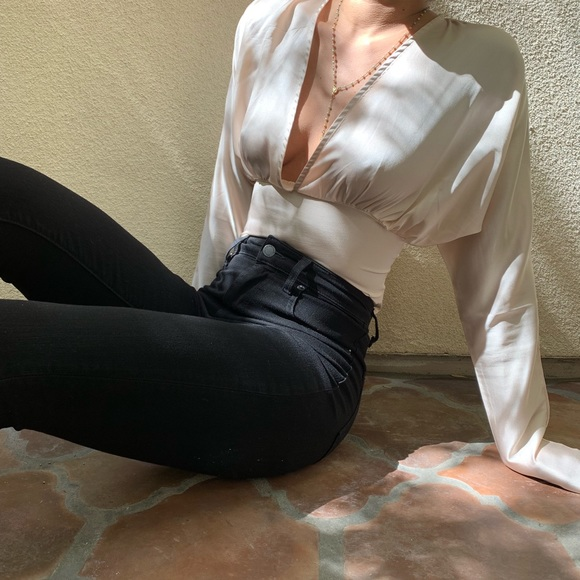 Nasty Gal Tops - Silk blouse